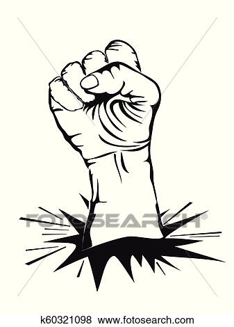 Fist Punching Wall Background Clip Art K60321098 Fotosearch