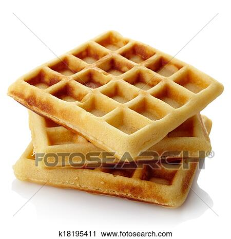 Stock Photography of Belgium waffles k18195411 - Search ...