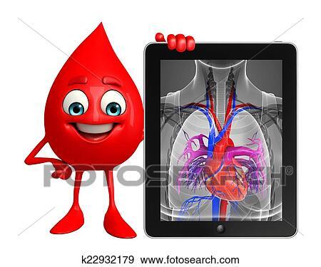 Colección de ilustraciones - salto de sangre, carácter, con, corazón ...