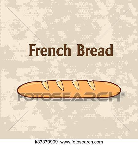 رسم كاريكتوري الخبز الفرنسي Baguette Clip Art K37370909 Fotosearch