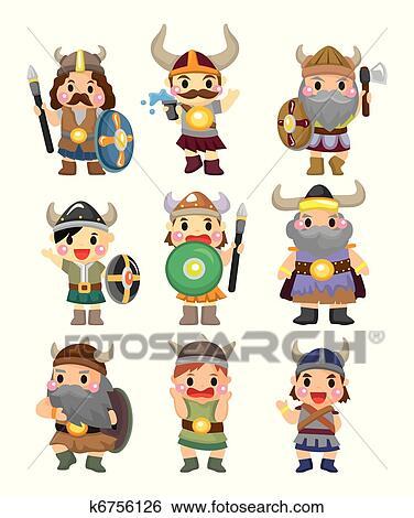 Dessin animé viking