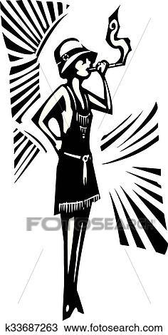 clipart of flapper k33687263 search clip art illustration murals 1920 Women Fashion clipart flapper fotosearch search clip art illustration murals drawings and vector