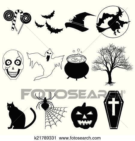Niedlich Halloween Schwarz Weiß Clipart Galerie - Framing ...