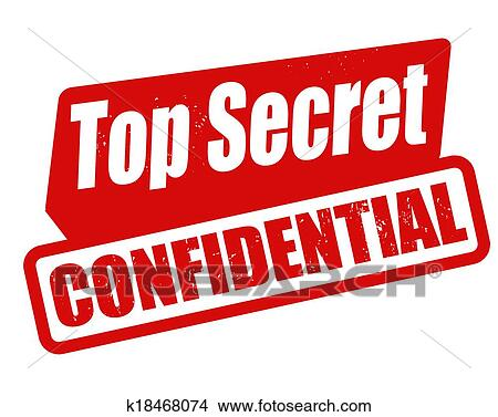 Clipart Of Top Secret Confidential Stamp K18468074