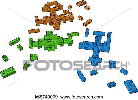 TresDiferenteBloques De Art De TresDiferenteBloques Clip ColorJugueteVectorOIlustración nwm8Nv0