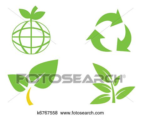clip art of environmental conservation symbols k6767558 search rh fotosearch com Water Clip Art Water Clip Art
