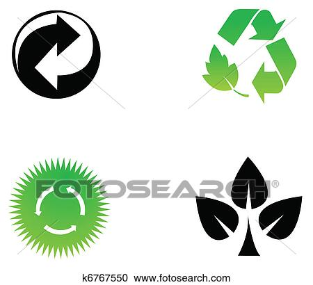 clipart of environmental conservation symbols k6767550 search clip rh fotosearch com Tractor Clip Art Deer Clip Art