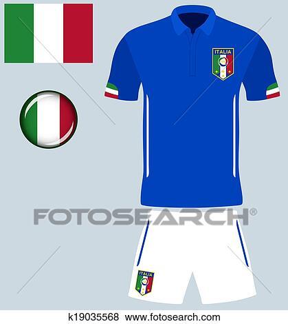 c02f19e0767 Clip Art - Italy Football Jersey. Fotosearch