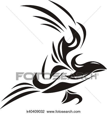 Noir Oiseau Blanc Dessin