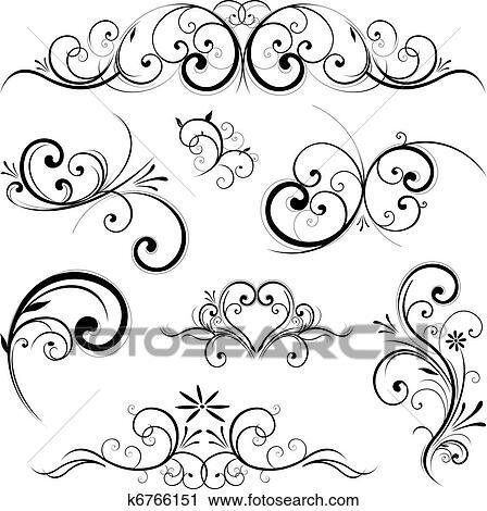 clipart of vector scroll ornament k6766151 search clip art rh fotosearch com clipart vectoriel clipart vectoriel gratuit vector