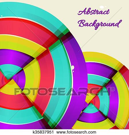 Abstract Colorful Rainbow Curve Background Design Clip Art