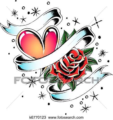 Amor Saudacao Desenho Desenho K6770123 Fotosearch