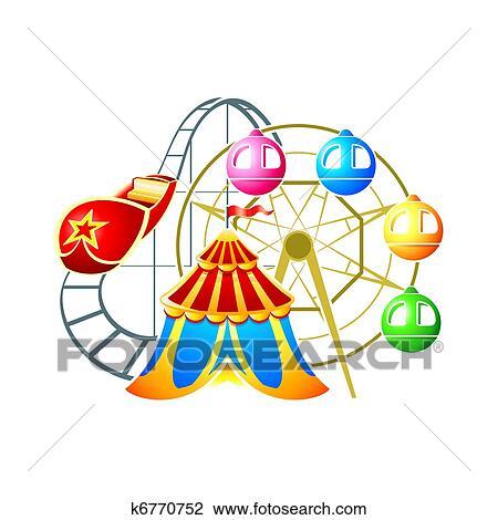 clipart of amusement park symbol k6770752 search clip art rh fotosearch com amusement park clipart map amusement park rides clipart