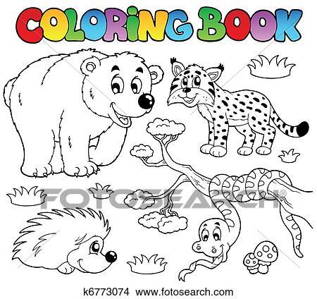 Clipart Ausmalbilder Mit Wald Tiere 3 K6773074 Suche Clip