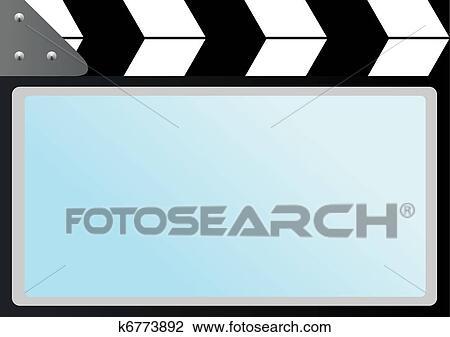 clipart of film with slapstick cinema screen k6773892 search clip rh fotosearch com