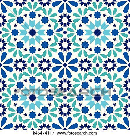 Geometric Seamless Pattern Moroccan