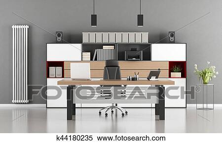 Ufficio Bianco E Grigio : Archivio illustrazioni grigio e bianco moderno ufficio