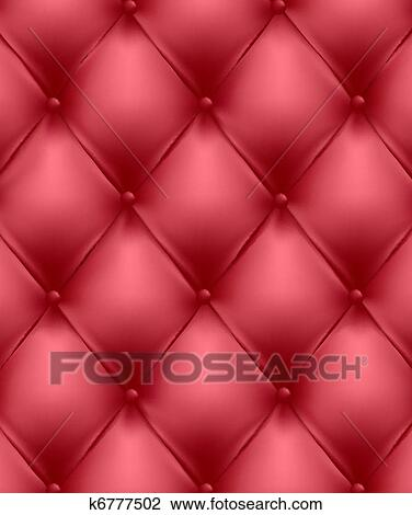 Clipart Red Genuine Leather Upholstery Fotosearch