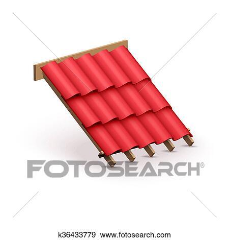 アイコン 金属 カバー 上に 屋根 イラスト K36433779 Fotosearch