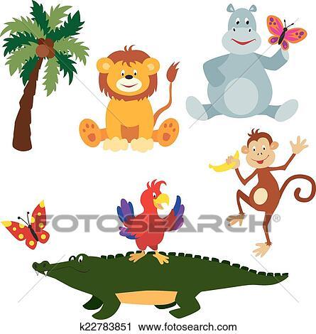 Clipart - afrikanisch, tiere, satz, 2 k22783851 - Suche Clip Art ...