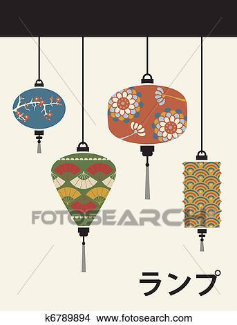 Clipart Japan Lampen Hintergrund K6789894 Suche Clip Art