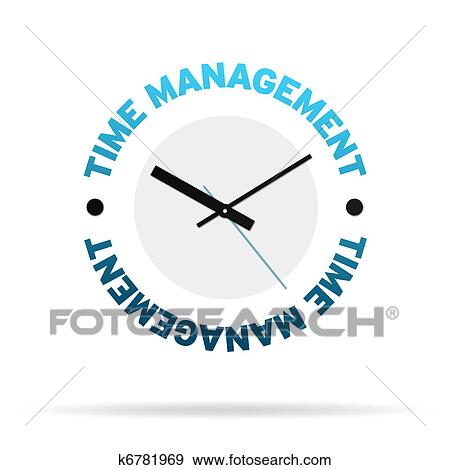 stock illustration of time management clock k6781969 search vector rh fotosearch com Change Management Clip Art Change Management Clip Art