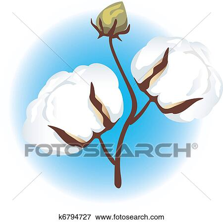 clip art of cotton branch k6794727 search clipart illustration rh fotosearch com cotton clip art free cotton clipart png