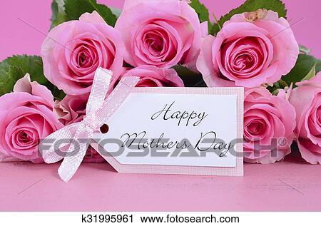 banco de fotografías feliz día madres rosas rosa fondo