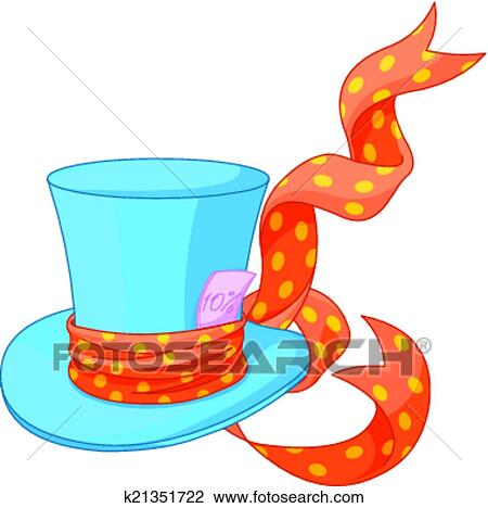 clipart of top hat of mad hatter k21351722 search clip art rh fotosearch com top clipart black and white top clipart clothes