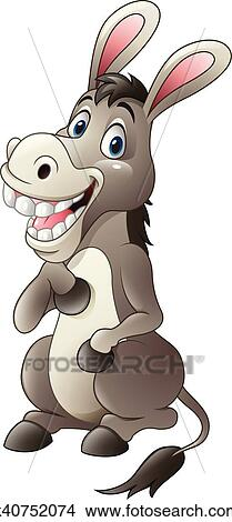 clipart of cartoon funny donkey mascot k40752074 search clip art