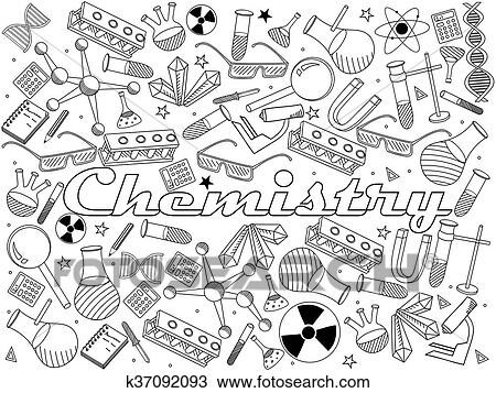 Clipart of Chemistry coloring book vector illustration k37092093 ...