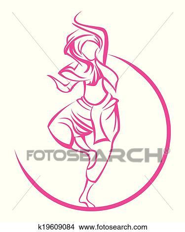Clipart Of Dance India Symbol K19609084 Search Clip Art