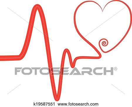 clipart of heart beat swirl heart k19587551 search clip art rh fotosearch com heartbeat clip art thank you heartbeat clipart images