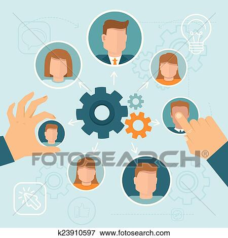 Clip Art of Human resource management k23910597 - Search ...
