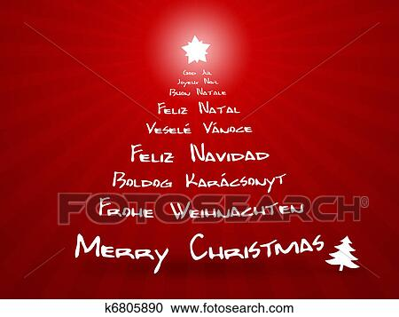 Merry Christmas In Different Languages.Merry Christmas In Different Languages Clipart