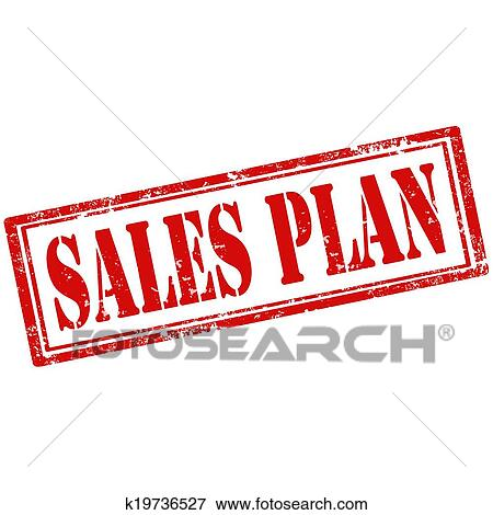 Sales Plan-stamp Clip Art