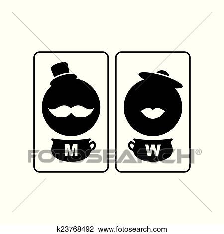 Wc Vector Sign Clipart K23768492 Fotosearch