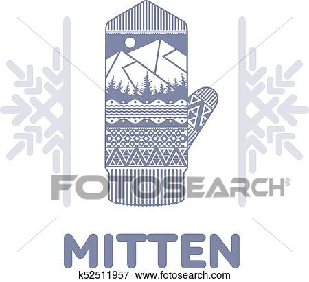 Clip Art of Winter mittens illustrations k52511957 - Search Clipart ...