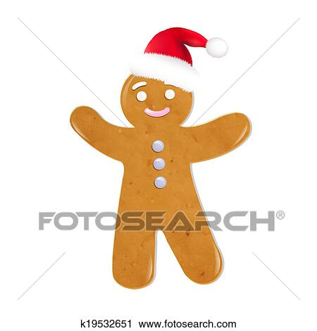 Christmas Cookies With Santa Hat Clip Art
