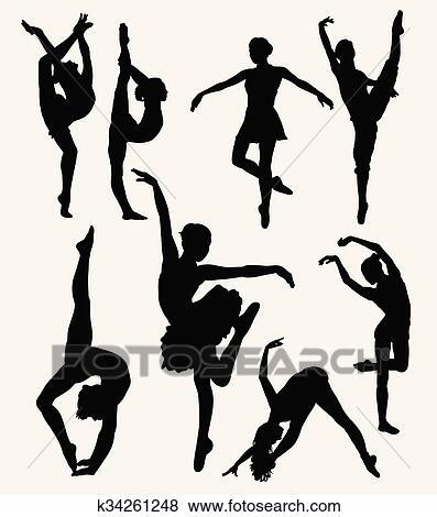 Dancer Silhouette Clip Art K34261248 Fotosearch