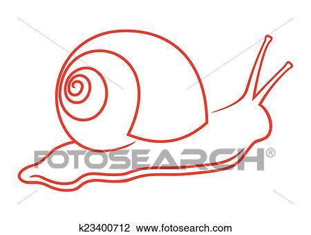 Clipart escargot k23400712 recherchez des clip arts - Clipart escargot ...