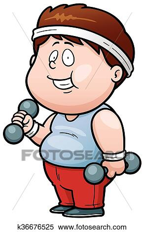 clipart of fat man k36676525 search clip art illustration murals rh fotosearch com fat stick man clipart funny fat man clipart