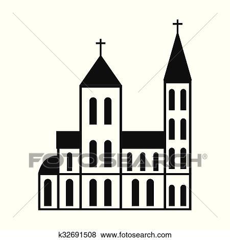 Clip Art Katholik Kirche Einfache Symbol K32691508 Suche