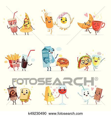 Clipart Lindo Cómico Alimento Caricatura Caracteres Mejores
