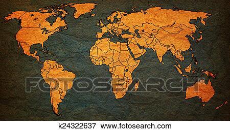Papua new guinea territory on world map Stock Illustration ...
