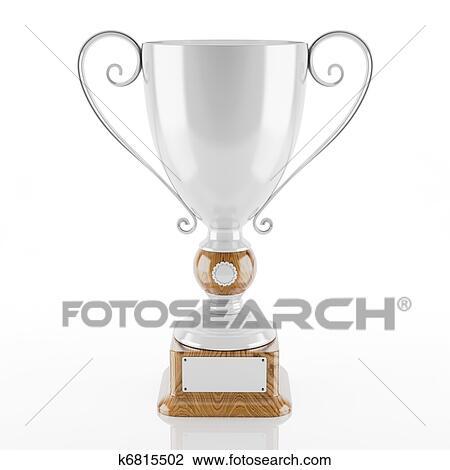 Clip Art Of Silver Trophy Cup K6815502