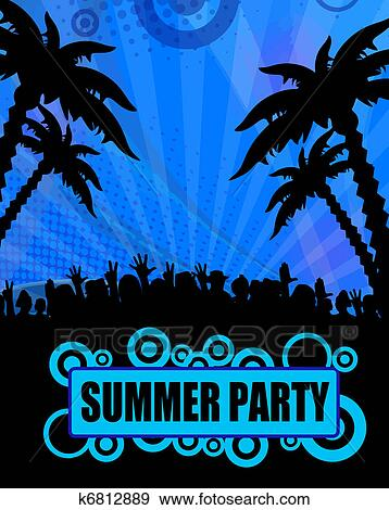 clip art of summer party design k6812889 search clipart