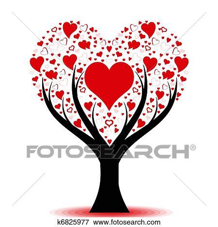 Clipart amour arbre k6825977 recherchez des cliparts - Clipart amour ...