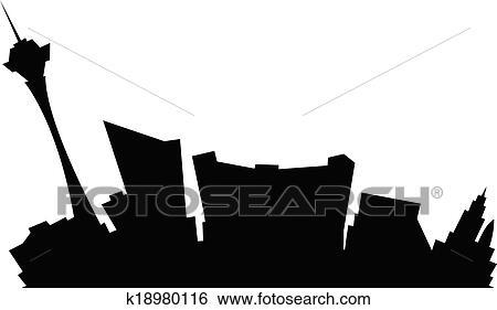 Clip Art Of Cartoon Las Vegas K18980116 Search Clipart