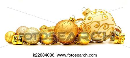 stock images of golden christmas ornament border k22884086 search